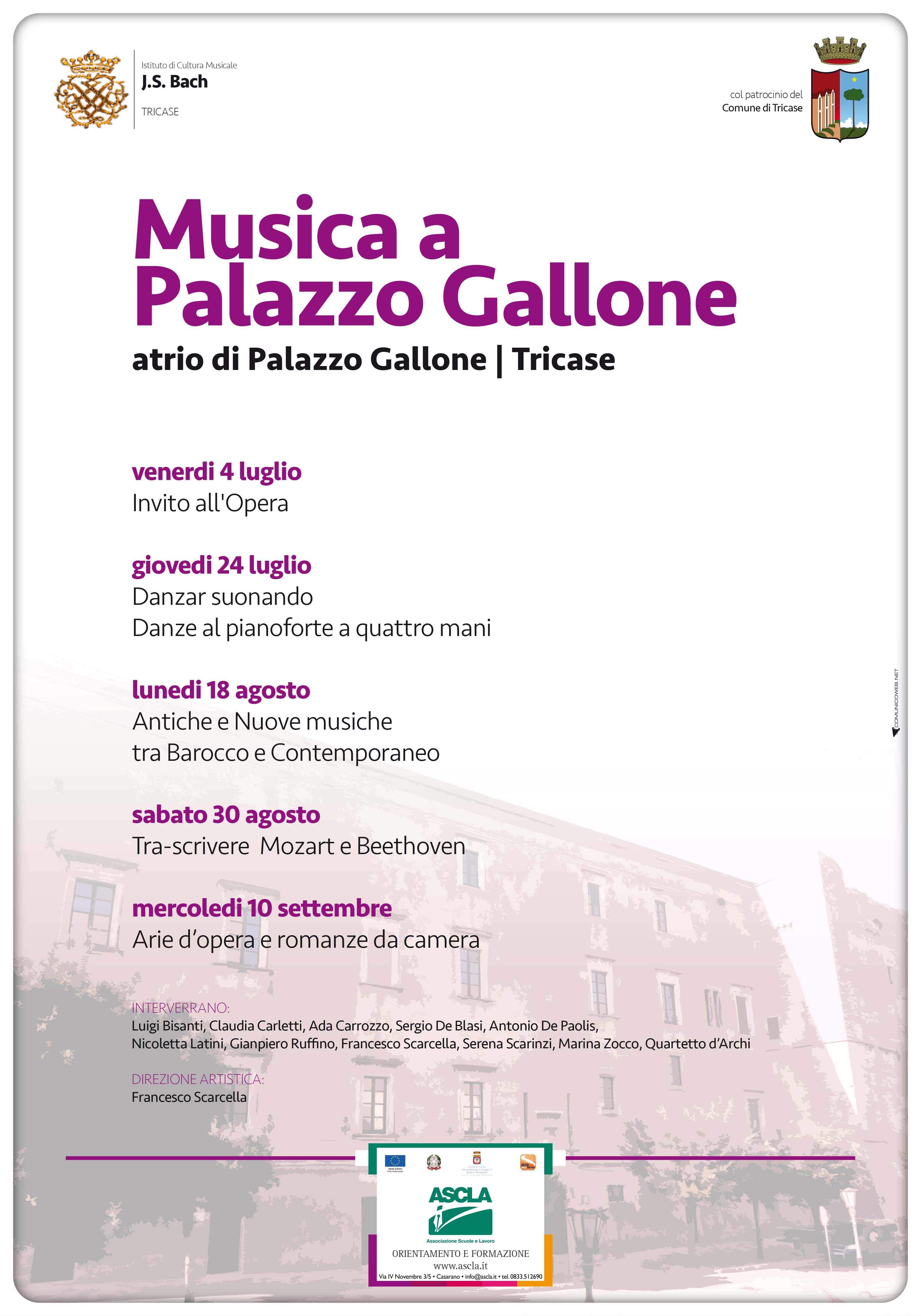 Bach Tricase MusicaPalazzoGallone